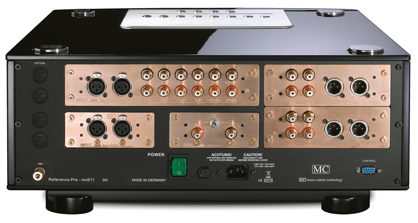 mc 611 preamplifier (rear view)
